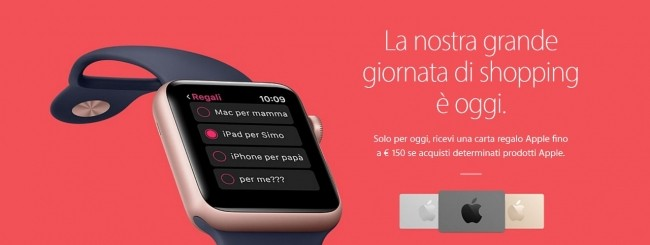 Apple, gift card in Italia per il Black Friday