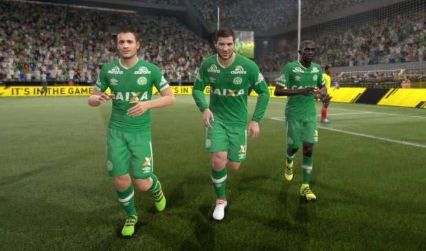 In campo con la Chapecoense su FIFA 17, nella modalità Ultimate Team