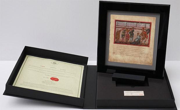 La stampa a tiratura limitata del Folio XXII recto