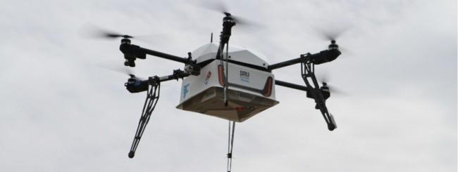 La pizza la consegnano i droni