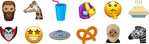 Alcune delle nuove emoji che potrebbero essere introdotte da Unicode 10