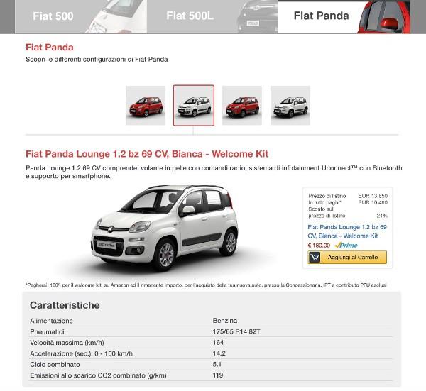Fiat sbarca su Amazon