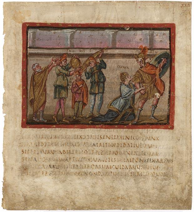 Il Folio XXII recto del Virgilio Vaticano