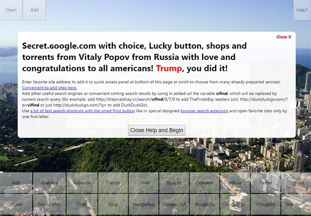 La homepage del sito ɢoogle.com