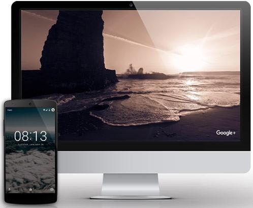 Il software Salvaschermo di Google+ e l'app sfondi per dispositivi Android