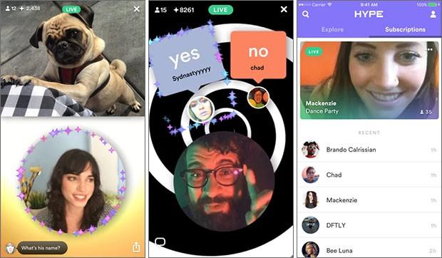 Screenshot per l'applicazione Hype su iPhone