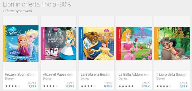 I libri scontati su Google Play per la Cyber Week