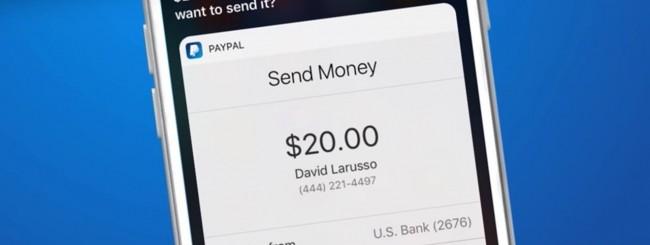 PayPal e Siri