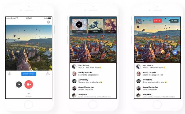 Prisma personalizza le dirette di Facebook Live