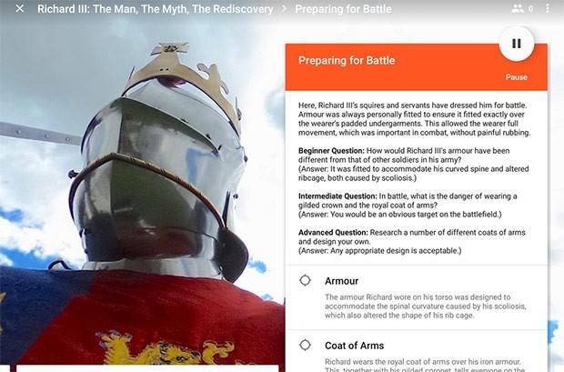 Tra le nuove Expeditions di Google c'è anche quella dedicata a Riccardo III