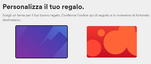 È possibile personalizzare il design delle card regalo di Spotify