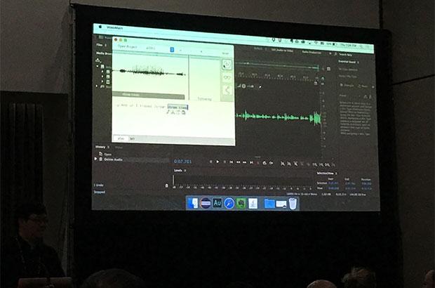 L'interfaccia di Project VoCo durante una demo