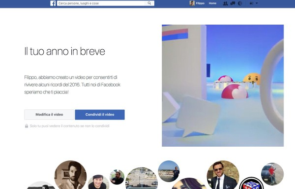 Facebook Your Year in Review 2016