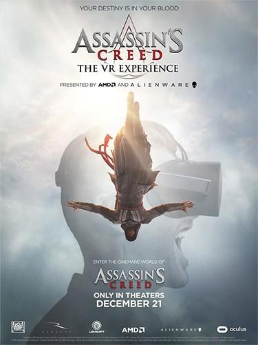 La locandina dell'esperienza in realtà virtuale dedicata al film di Assassin's Creed