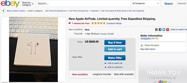 AirPods su eBay