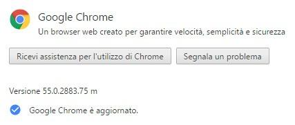 Il browser Chrome di Google è stato aggiornato alla versione 55.0.2883.75 su computer con sistema operativo Windows, macOS e Linux