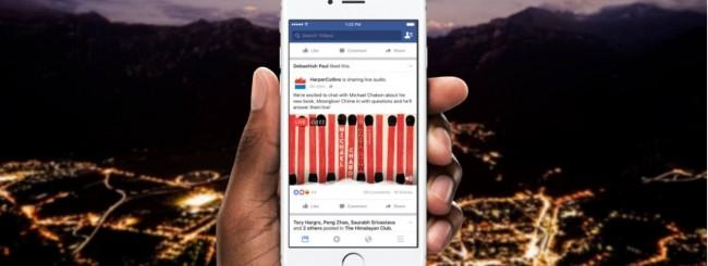 Facebook diventa una radio
