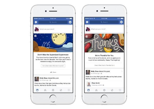 Facebook, nuovi modi per condividere i momenti