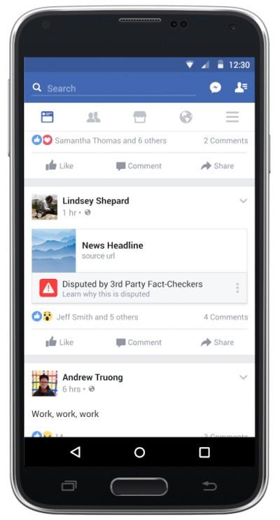 Facebook segnalerà le notizie false