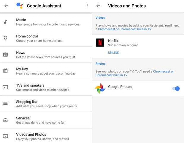 Le impostazioni di Google Home