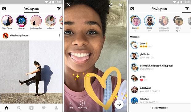 Screenshot per l'applicazione ufficiale di Instagram su smartphone Android