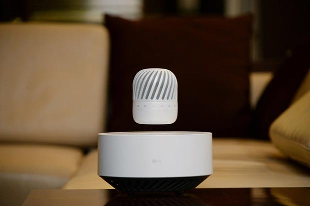 LG Levitating Portable Speaker, lo speaker Bluetooth a levitazione magnetica