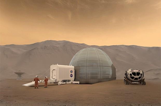 Mars Ice Dome: il concept della NASA per le unità abitative su Marte
