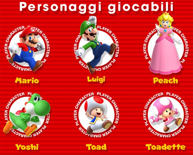 I personaggio giocabili di Super Mario Run