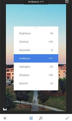 L'aggiornamento alla versione 2.13 di Snapseed introduce una gestione migliorata e semplificata dei parametri di editing più utilizzati
