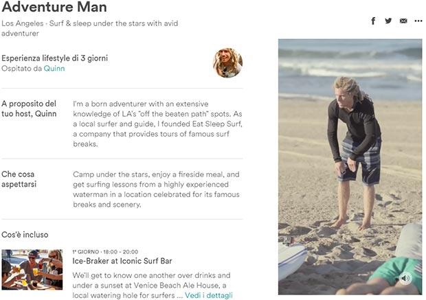 Adventure Man, una delle tante Esperienze offerte da Airbnb