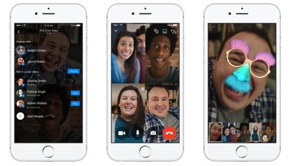 Videochiamata di gruppo con Messenger