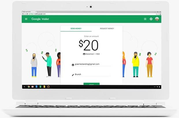 L'interfaccia Web per lo scambio di denaro fra utenti con Google Wallet