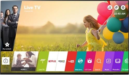L'interfaccia della piattaforma WebOS 3.5 su un televisore LG di nuova generazione