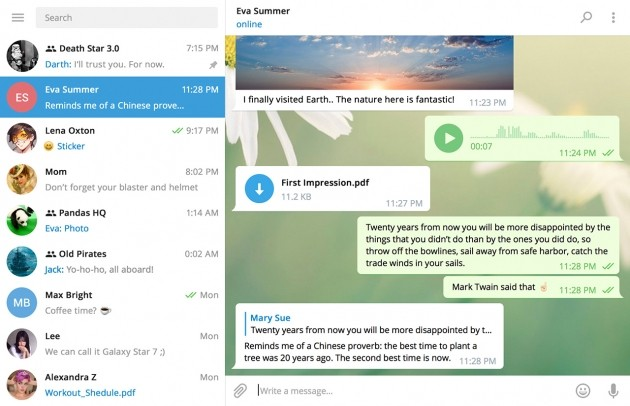 Telegram Desktop 1.0