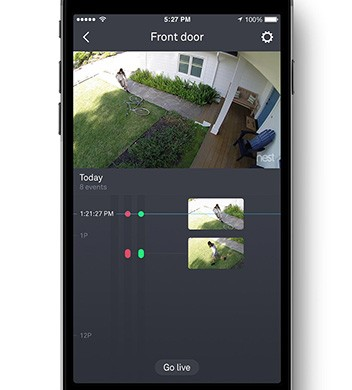 L'applicazione mobile per gestire e controllare da remoto le videocamere Nest dedicate alla sorveglianza della casa