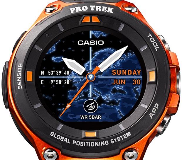Il nuovo smartwatch Casio WSD-F20 equipaggiato al lancio con il sistema operativo Android Wear 2.0 e modulo GPS