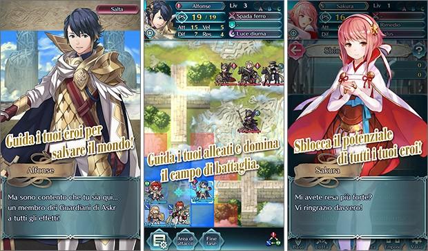 Screenshot per Fire Emblem Heroes, nuovo gioco mobile di Nintendo in arrivo su Android e iOS il 2 febbraio