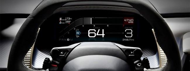 Ford GT, display digitale adattivo