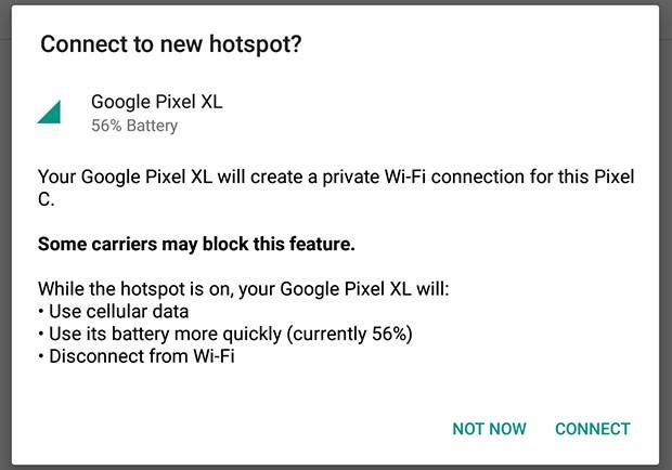 La funzionalità Instant Tethering introdotta da Google su Android con l'aggiornamento alla versione 10.2 di Play Services