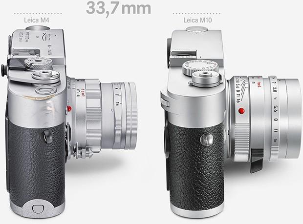 La Leica M4 del 1967 (a sinistra) e la nuova Leica M10 (a destra)
