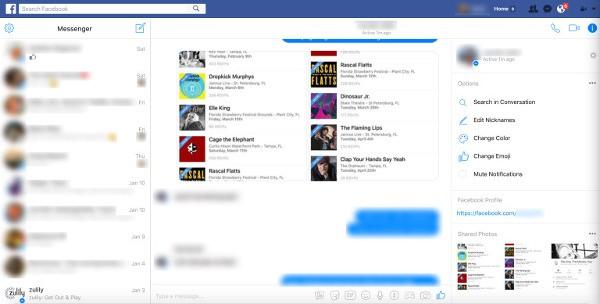 Facebook Messenger, nuova interfaccia web