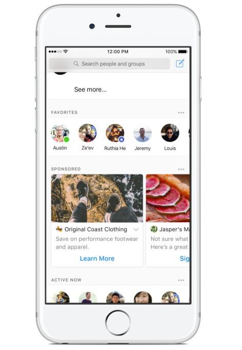 Facebook testa la pubblicità in Messenger