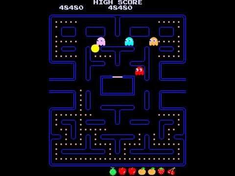La prima versione di Pac-Man, nelle sale giochi dal 1980