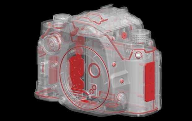 Il design della Pentax KP in dettaglio