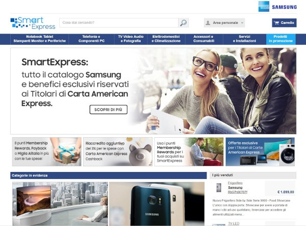 SmartExpress, shopping online ad alta tecnologia
