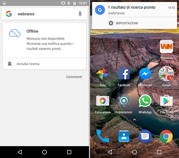 La ricerca offline di Google è già attiva anche in Italia: è possibile specificare i termini da cercare anche in assenza di connettività