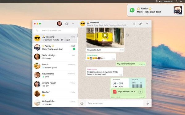WhatsApp per Mac App Store