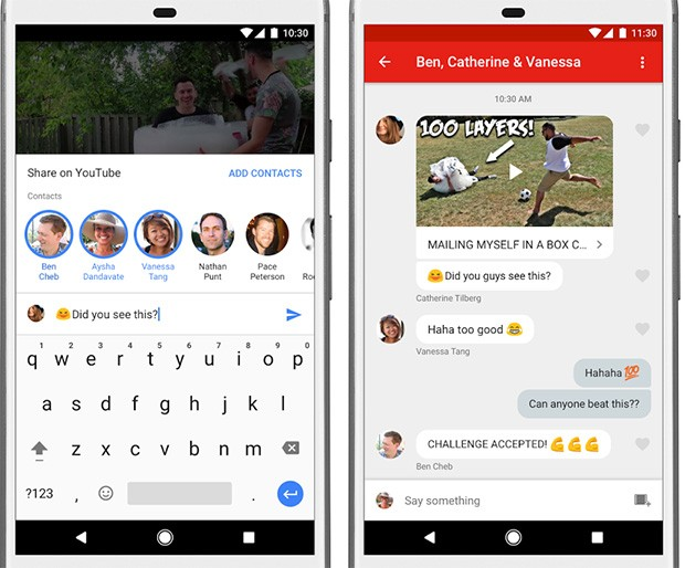 La nuova modalità di condivisione dei video su YouTube, introdotta da Google nell'applicazione ufficiale, inizialmente disponibile solo in Canada