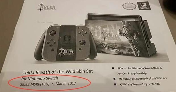 L'accessorio Zelda: Breath of the Wild Skin Set per la console Nintendo Switch