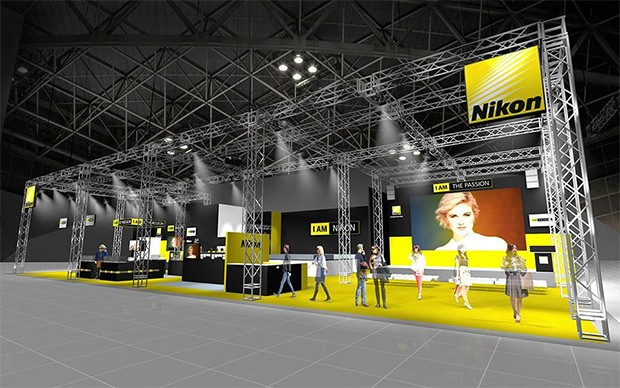 Il padiglione Nikon all'evento giapponese CP+